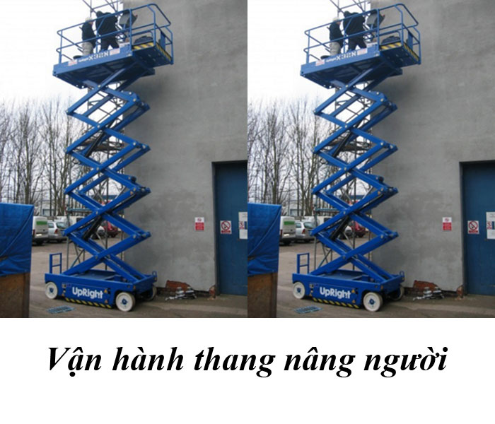 vận hành thang nâng người