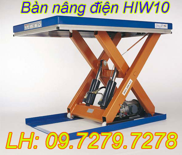 Bàn nâng điện HIW10 1 tấn nhập khẩu