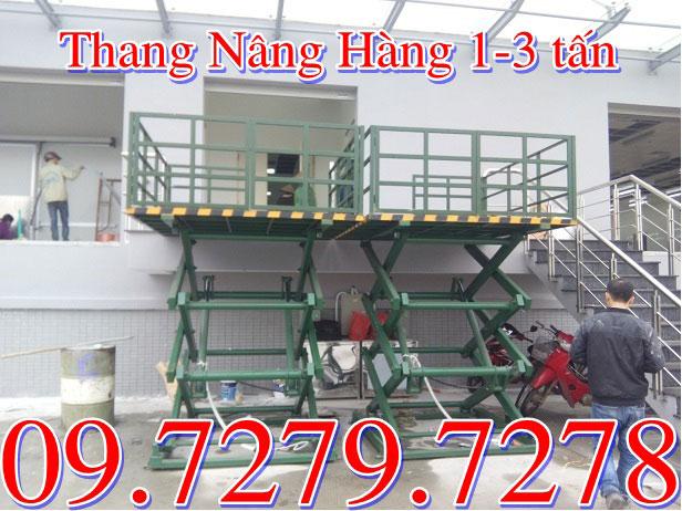Thang nâng hàng 1 tấn 3 tấn