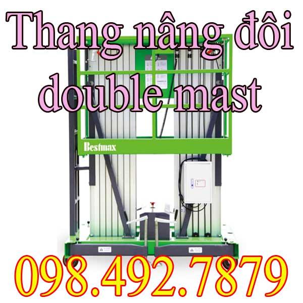 Xe Thang Nâng Người Làm Việc Trên Cao Hai Cột Buồm