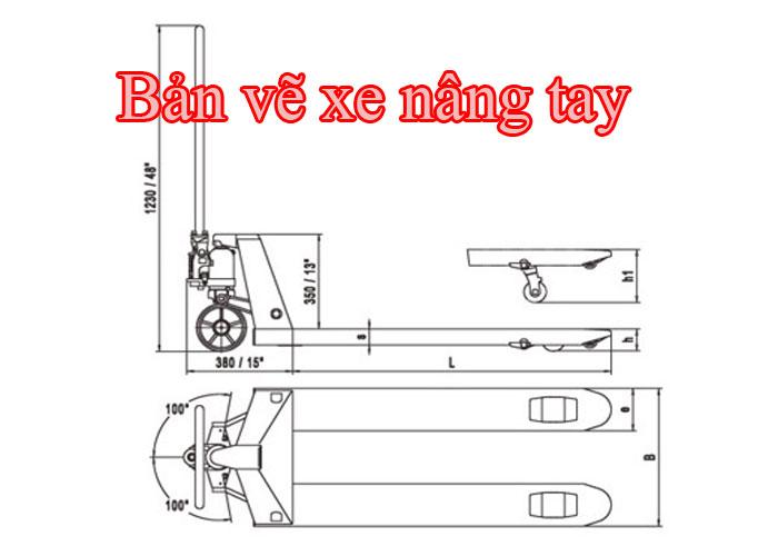 Hướng dẫn lắp xe nâng tay thấp 3tấn
