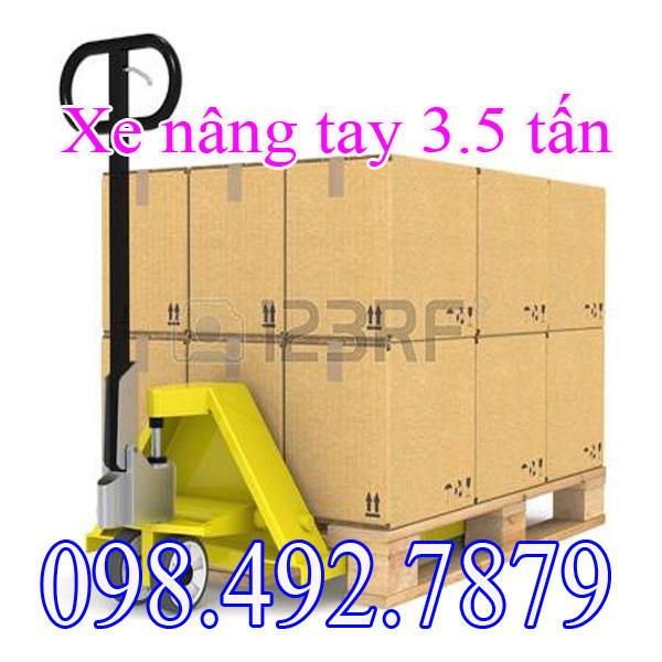 Xe Nâng Tay Thấp 3.5tấn Giúp Kéo Hàng Trên Container