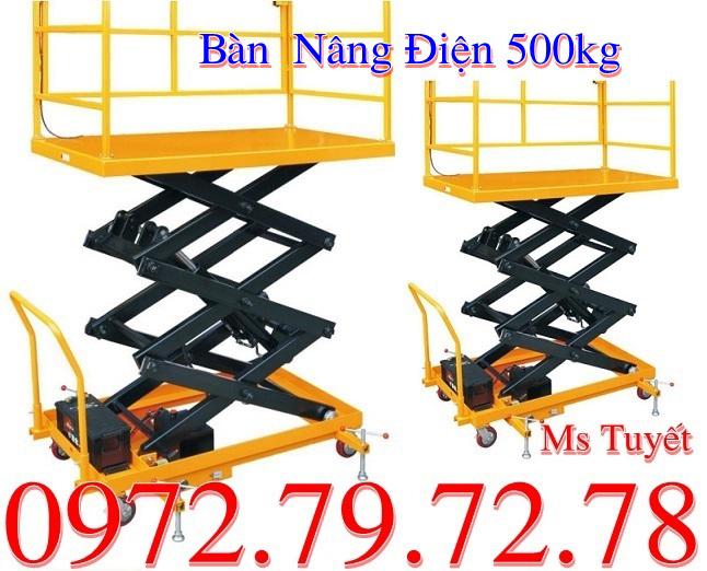 Giá bàn nâng điện 500kg
