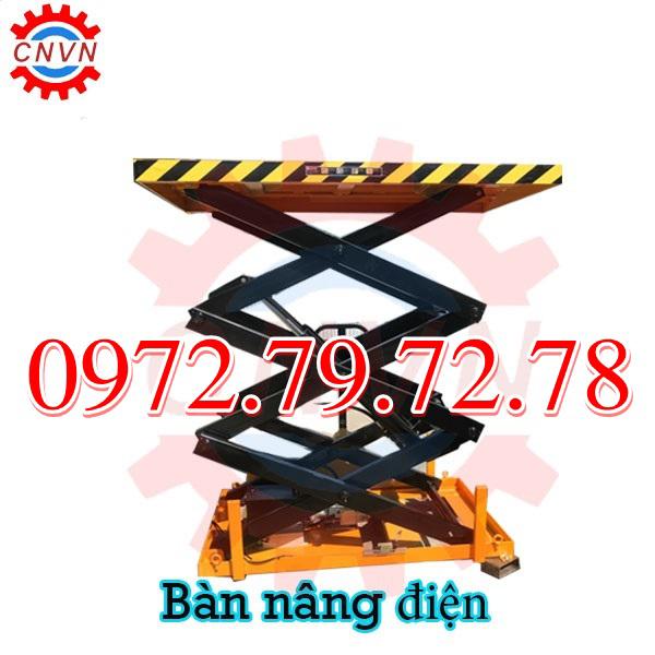 Bàn Nâng điện 500kg 1 Tấn Nhập Khẩu Bán Giá Cực Tốt