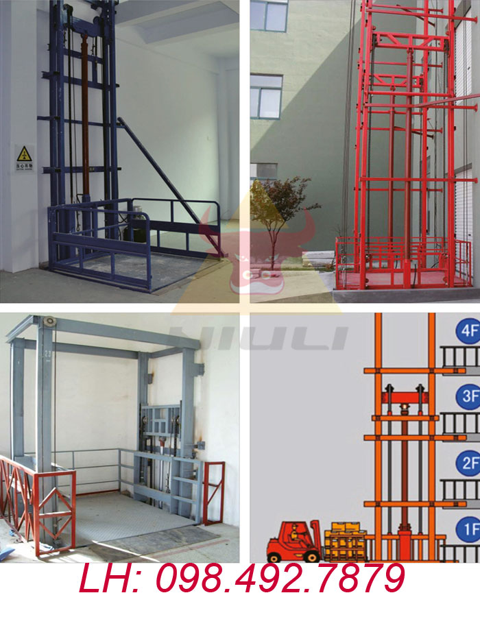 Vận thang nâng hàng dùng điện thủy lực