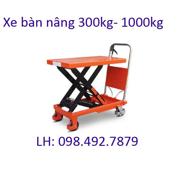 Xe Nâng Hạ Mặt Bàn Thủy Lực 300kg 350kg 500kg 1000kg