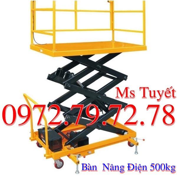 Giá Bàn Nâng điện 500kg Rẻ Nhất Hiện Nay Tại Việt Nam