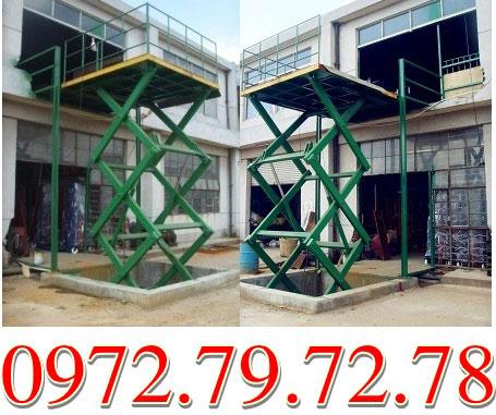 Thang nâng hàng 1 tấn cao 3 mét